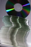 Pile of CDs. Irregular pile of blank CDs Royalty Free Stock Images