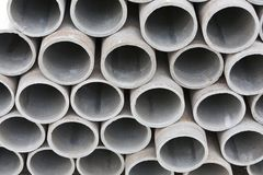 Pile of cement pipes Royalty Free Stock Photo
