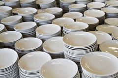 Pile of ceramic plates Stock Photography