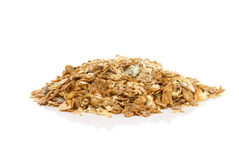 Pile of cereal. Over white background Royalty Free Stock Photo