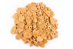 Pile of cereals top view Royalty Free Stock Images