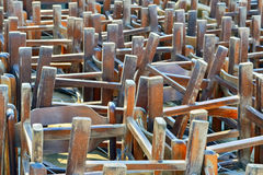 Pile of chairs Royalty Free Stock Photo
