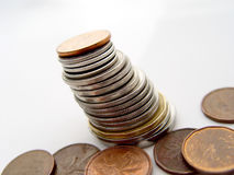 Pile of Change Royalty Free Stock Photos