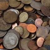 Pile of change background Royalty Free Stock Images