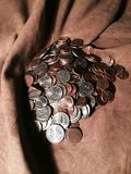 A pile of change Royalty Free Stock Image