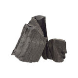pile of charcoal isolated on white Stock Images