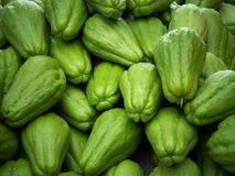 Pile of chayote fruits Stock Photos