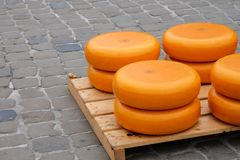 Pile of cheese in Gouda Royalty Free Stock Photo