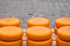 Pile of cheese in Gouda Royalty Free Stock Images