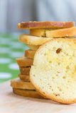 Pile of cheese toast bread in selective focus Stock Photography