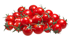 Pile of cherry pachino tomatoes, paths Royalty Free Stock Photography