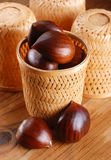 Pile of chestnuts Stock Photo
