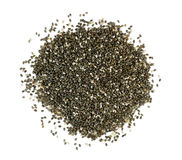 Pile of chia seeds isolated on white Stock Image