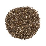 Pile of chia seeds, overhead view on white Stock Image