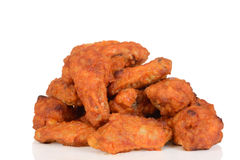 Pile of chicken wings. On white background Stock Photography