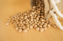 Pile of chickpeas beans Stock Images