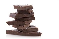 Pile chocolate Stock Photos
