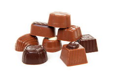 Pile of chocolate bonbons Stock Photography