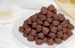 Pile of Chocolate Candies Royalty Free Stock Image