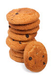 Pile of chocolate chip cookies Stock Photos