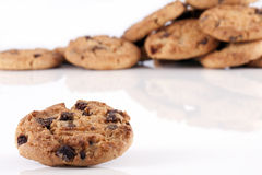 Pile of chocolate chip cookies Royalty Free Stock Image