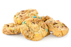 Pile of chocolate chip cookies Stock Images