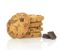 A pile of chocolate chip cookies Royalty Free Stock Photos