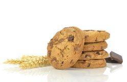 A pile of chocolate chip cookies Stock Photos