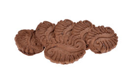 Pile chocolate cookies Royalty Free Stock Photography