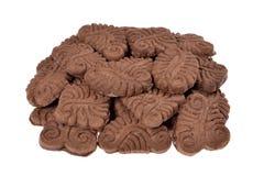 Pile chocolate cookies Royalty Free Stock Photos