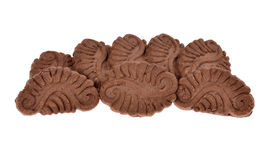 Pile chocolate cookies Royalty Free Stock Images