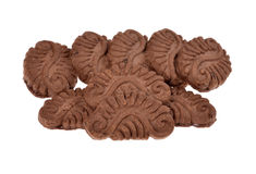 Pile chocolate cookies Royalty Free Stock Image