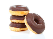 Pile of chocolate donuts Royalty Free Stock Photo