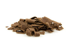Pile chocolate flakes Royalty Free Stock Images
