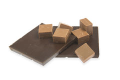 Pile of chocolate Stock Photos
