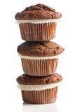 Pile of chocolate muffins Stock Photo