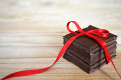 Pile of chocolate Stock Images