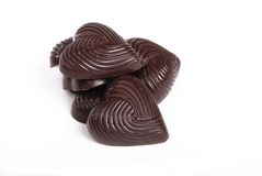 A pile of chocolates royalty free stock photos