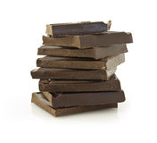 Pile of chokolate blocks Stock Images
