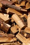 A pile of chopped and cut wood Royalty Free Stock Image