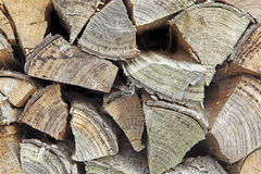 Pile of chopped fire-wood. As a background Royalty Free Stock Image