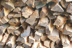 Pile of chopped fire wood. Arranged pile of chopped fire wood Royalty Free Stock Image