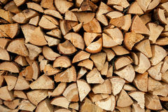 Pile of chopped fire wood Royalty Free Stock Images
