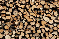 Pile of chopped fire Royalty Free Stock Image