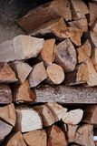Pile of chopped fire wood logs. Royalty Free Stock Image