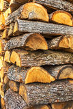 Pile of chopped fire wood prepared for winter Royalty Free Stock Photos