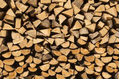 Pile of Chopped Firewood Stock Image