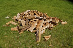 Pile of chopped firewood Stock Photos