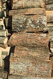 Pile of chopped firewood logs Royalty Free Stock Photos