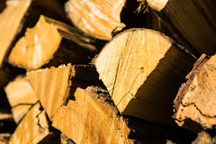 Pile of chopped firewood for winter usage Royalty Free Stock Image